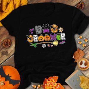 TS-U-Job-HallItem-Dgrm-210914VY10 @ Dog Groomer Halloween Items-Dog Groomer Halloween Doodle Font Shirt