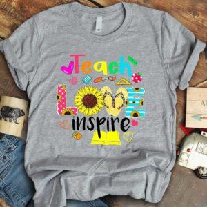 TS-U-Job-LoveShoe-Tcer-210910VY10 @ Teacher Love Shoes-Teacher Sunflower Teach Love Inspire T-Shirt