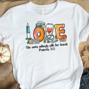 TS-U-Job-LoveToolRetr-Nur-210920VA199 @ She works willingly-Nurse She Works Willingly Vintage Shirt
