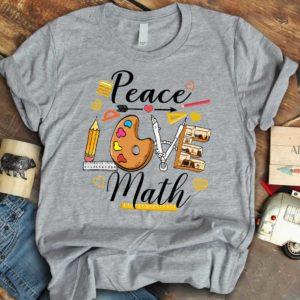 TS-U-Job-PeacLovePale-T5-210910VY10 @ Math Teacher Peace Love Palette-Math Teacher Peace Love Math T-Shirt