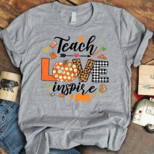 TS-U-Job-PumpLove-Tcer-210910VY10 @ Teacher Pumpkin Love-Teacher Pumpkin Teach Love Inspire T-Shirt