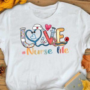 TS-U-Nur-LoveCuteTool-Nur-210920VA10 @ Nurse Love Cute Tools-Nurse Life Love Doodle Cute Shirt
