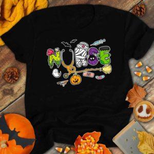 TS-U-Nur-NursHallTxt-Nur-210920VY10 @ Nurse Nurse Halloween Text-Nurse Halloween Doodle Font Shirt