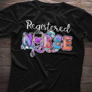 TS-U-Nur-NursPastGoth-RN-210920VA10 @ Registered Nurse Nurse Pastel Goth-Registered Nurse Rn Pastel Font Shirt