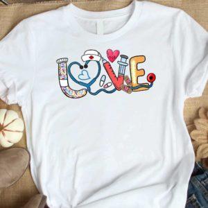 TS-U-Nur-NursToolPast-Nur-210920VA10 @ Nurse Tools Pastel-Nurse Tools Doodle Shirt