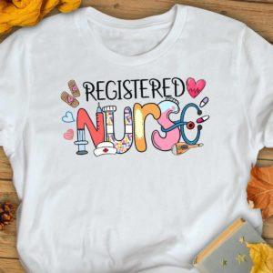 TS-U-Nur-ToolHand-RN-210920VA10 @ Registered Nurse Tools Handdraw-Registered Nurse Rn Love Doodle Shirt
