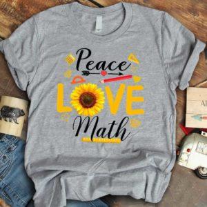 TS-W-Job-PeacLoveSfl-T5-210910VY10 @ Math Teacher Peace Love Sunflower-Math Teacher Sunflower Peace Love Math T-Shirt